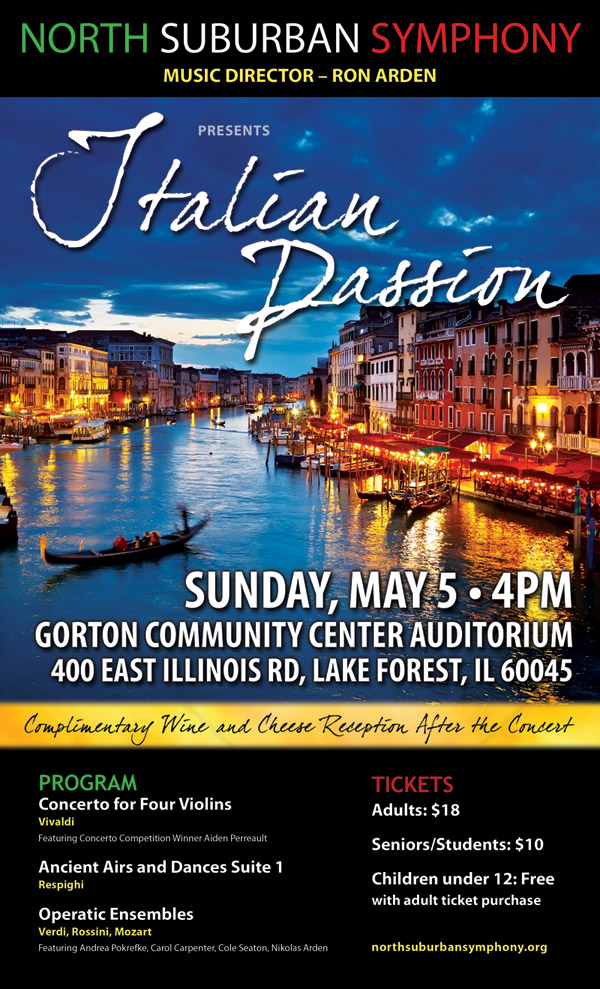 Lake Forest Civic Orchestra Italian Passion Concert Poster